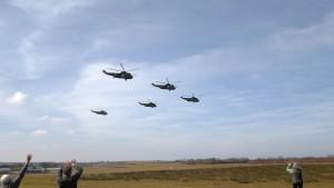 Sea Kings overhead Eaglescott